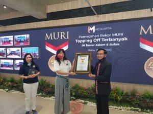 News Bekasi Reborn Meikarta Pecahkan Rekor MURI, Pengembang dengan Topping Off Terbanyak 28 Tower selama kurang dari 1 tahun