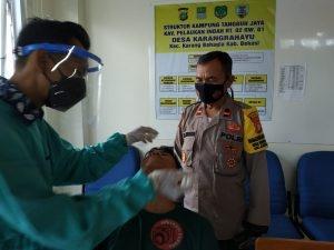News Bekasi Reborn Kapolsek Cikarang Utara Kompol Mustakim.SH,MH Giat Swab Antigen di Dua Kecamatan Total 206 Orang Hasil 2 Reaktif Isolasi Mandiri