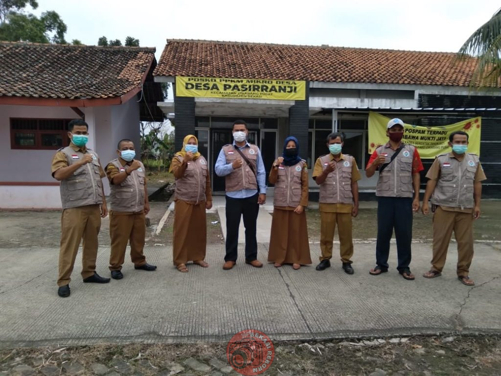 News Bekasi Reborn Wardi Kades Pasir Ranji Gelar Apel Satgas PPKM Guna Putus Mata Rantai Penyebaran C-19