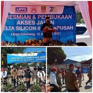 News Bekasi Reborn HUT 71 Kab.Bekasi PJ Bekasi Dani Ramdan Resmikan Akses Jalan Delta Silicon 8
